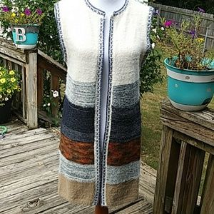Chelsea & Violet Fuzzy Open Cardigan NWT $148
